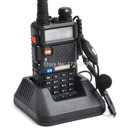 Dual Band Uhf Vhf Portable Canada - Wholesale-Baofeng UV-5R Two Way Ham CB Portable Radio VHF UHF Dual Band Comunicador Transmitter Handy Walk Talkie