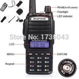 icom uhf radios Rabatt Großhandels-2pcs Baofeng UV-82 CB tragbares Radio VHF UHF-Doppelband Comunicador Portatil Baofeng UV82 handliches Funksprechgerät stellt ein