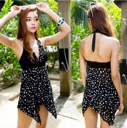 e9fc3fac292e9 Wholesale-Women Plus Size 2pc Tankini Top+Shorts Halter Pad Swimsuits  Asymmetric Swimwear YY3