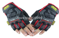 Wholesale Mechanix S - Wholesale-Free shipping 1pair NEW fingerless Outdoor mountain gloves Mechanix Wear M-Pact tactical half gloves 5 Color Gloves S~XL