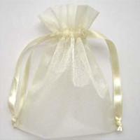saco de presente de organza marfim venda por atacado-200 Pcs Marfim Organza Gift Bag Favor Do Casamento 7X9 cm (2,7 x 3,5 polegadas) Embalagem Wrap