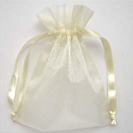 Wholesale Wholesale Wedding Gift Wraps - 200 Pcs Ivory Organza Gift Bag Wedding Favor 7X9 cm ( 2.7 x 3.5 inch) Packaging Wrap