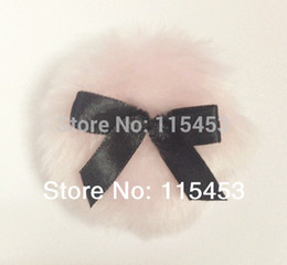 Wholesale Velour Powder Puffs - Wholesale-6pcs Cute Super Soft and Smooth Long Velour Powder Puff Loose Powder Shimmer Powder Body Fluffy Puff