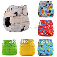 Wholesale Diaper Coolababy - Wholesale-10 Coolababy One Size Newborn Cloth Nappy Diapers with additional leg gusset + 10 insert