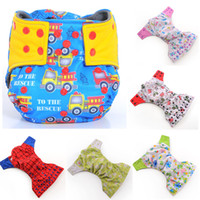 Wholesale Double Gussets - Wholesale-Happy Flute 6pcs  Lot AIO Cloth Diaper Baby Infant Pocket Diaper, Breathable Bamboo Charcoal inside PUL outside, Double Gussets