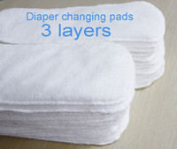 Wholesale Microfibre Diapers - Wholesale-Washable Baby Diapers Insert 3 Layers Reusable Baby Cloth Diaper Inserts Super Absorbent Newborn Changing Microfibre Nappy Liner