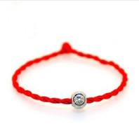 rote armband bestellen großhandel-Wholesale-Fashion Vintage-Schmuck Frauen Zubehör Großhandel Liebe Silber überzogene Perlen Armband Red String Min.Order $ 9.9 (Mischungsauftrag)