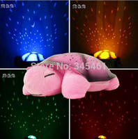 Wholesale Music Light Turtle Wholesale - Wholesale-Lamps for Children Gift Turtle LED Night Light Music Lights Mini Projector 4Colors 4Songs Star Lamp baby Toy nightlight
