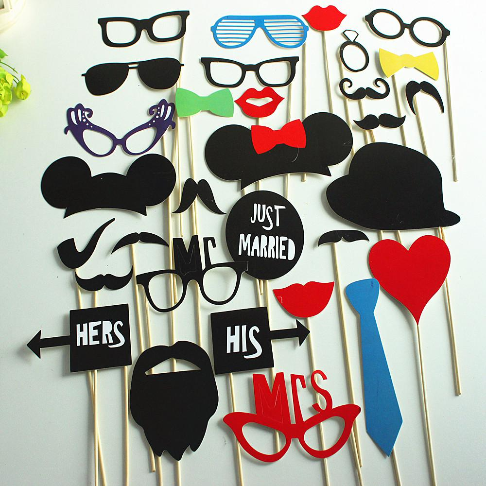 Wholesale Party Fun Favor Diy Photo Booth Props Small Ctue Mask On ...