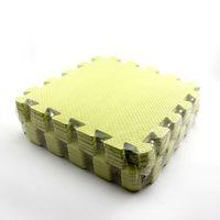 детская головоломка ползет оптовых-Wholesale-Yellow Baby Interlock Foam Crawling Mat Seamed Rug Splice Play Floor Puzzle Mat 10PCs/Pack
