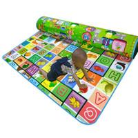 Wholesale Baby Meter - Wholesale-Baby Play Mat 2*1.8 Meter Fruit Play Game Mat Family Picnic Carpet Child Crawling Mat Tapete Para Bebe Toys Tapete Infantil