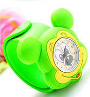 Wholesale Mixed Colour Watches - Wholesale-Mix Order Colour Children's Jelly Slap Watch Mickey Mouse Watch kids silicone sport watches Top quality Free shipping