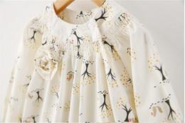 Y mayor-menor 1-61905233 Nueva Primavera 2015 de la muchacha de la blusa de impresión Árboles completo de la manga de las muchachas Top floral tee Lolita ropa de los niños Lote desde fabricantes