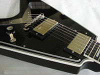 Wholesale Black Flying V - NEW Arrival Custom Shop Flying V Electric Guitars in Black China Guitar Factory Free shipping