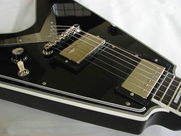 online shopping NEW Arrival Custom Shop Flying V Electric Guitars in Black China Guitar Factory