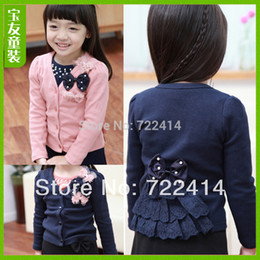 Wholesale Kids Free Sweater Patterns - Wholesale-Free shipping new 2015 butterfly decoration kids wear,patchwork pattern children clothing, sweaters, cardigan, jacket,baby suit