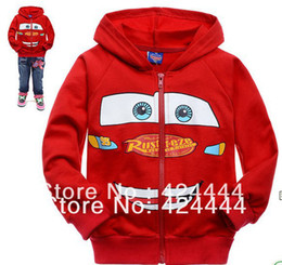 Wholesale Childrens Sweater Jackets - Wholesale-wholesale cartoon Red childrens clothing boy's girl's top shirts Zipper cardigan Hooded Sweater hoodie coat jacket