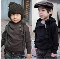 Wholesale Dash Clothing - Wholesale-Korean Children Clothing Best Quality Dashing Inclined Zipper Boys Girls Hoodies Coat 3-7Y Baby Kids Sweatshirt Topwear Retail