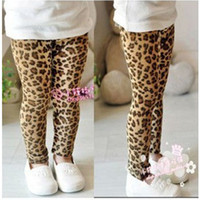 Wholesale Leopard Pants For Girls - Wholesale-Wholesale retail 1-6Yrs Baby Girls Leggings Fashion Leopards Pants For ChildrensTrousers Kids Fall Winter Clothing Free Shipping