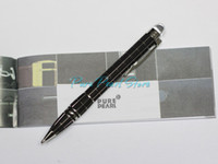 Wholesale MB SW High Quality Office School Stationery Frosted Black and Silver Checkered Ballpoint Pen