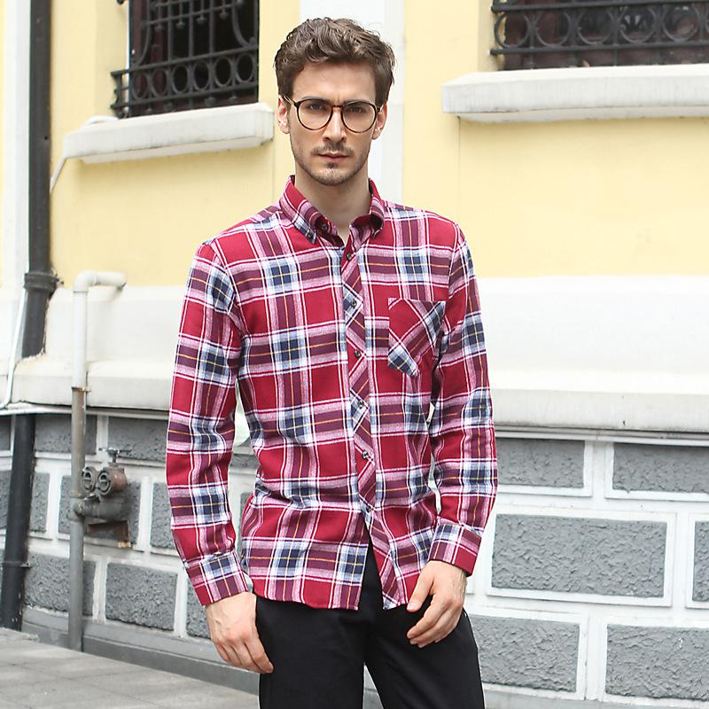 Best Wholesale The Couples Gifts Checkered Shirts Men Long Sleeve ...