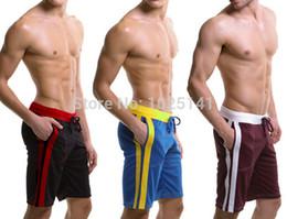 Discount low waist yoga pants - Wholesale-home Pocket pyjama men's casual trousers GYM Run sports YOGA wear Male beach boardshorts Middle half pant