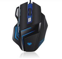 Wholesale Breath Right - Wholesale-Hot sale Wholesale BISO T10 USB gamer mouse, 2400 dpi, 6D wired game mouse, 6 buttons Gamming mice, Breath light, free shipping