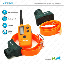 Wholesale Beeper Collars - Wholesale-Rechargeable Waterproof 500M Hunting Dog Beeper Collar for 2 Dogs