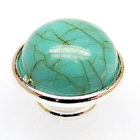 Wholesale Kameleon Bracelet - Wholesale-immitation Jewelpops with turquoise,fits for kameleon diy bracelets,necklace,ring,925 silver plating,jewelpops IJP249