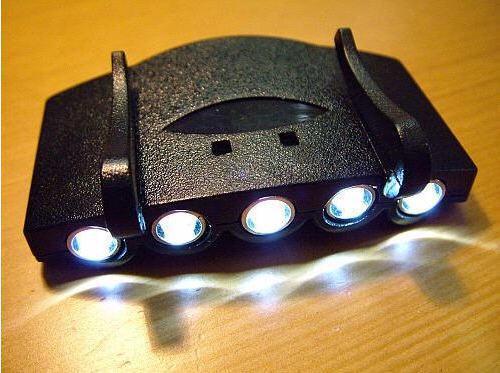 5 LED CAP Light White Light LED ficklampa strålkastare för campingfiske