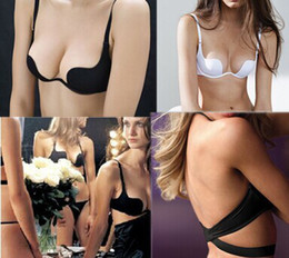 Wholesale Big Cup Bra Sets - Wholesale-ABCD Big Cup Deep U Low Cut Backless Invisible Convertible Bra That Is For Backless Cloth, Very Comfortable and Functionality