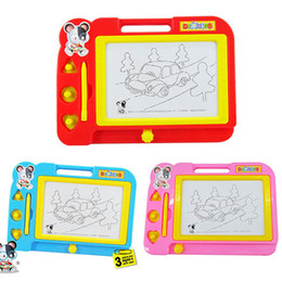 Wholesale Plastic Draws - Wholesale-Magnetic Drawing Board Sketch Pad Doodle Writing Painting Toy For Kids Children Free Shipping