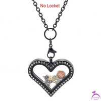 Wholesale Cheap Locket Charms - Wholesale-Cheap Fashion 3mm width 30'' Black Stainless steel rolo chain necklace for dangle charm floating glass locket,no Locket