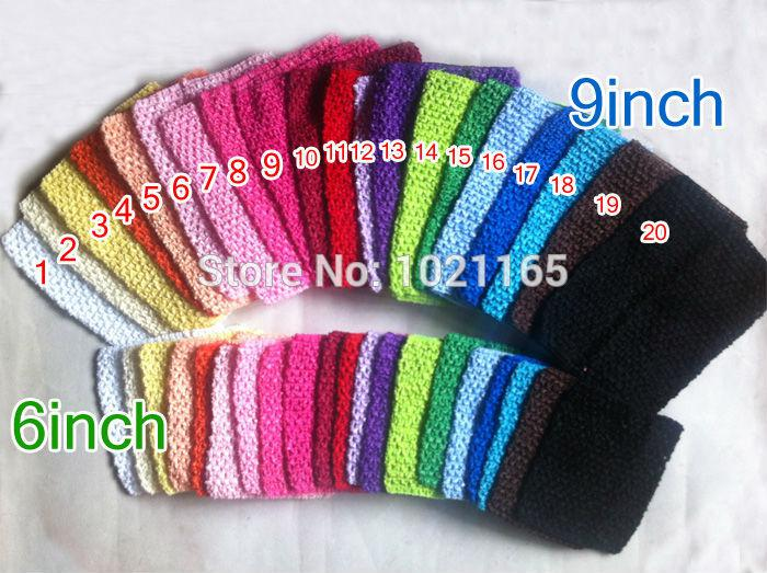 Wholesale Solid Color Kids Elastic Headbands Toddler Crochet Waffle String  9 Inch Amp  6 Inch Tutu Tube Baby Tops Mixed Colors Chinese Hair  Accessories Hair ... b1a11b69311