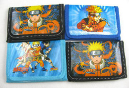 Wholesale Naruto Wallets - New! lot 60 pcs cartoon naruto Bags handbags Purses 1 zip