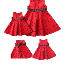 Wholesale Dress Tutu Baby Petti - Wholesale-Children's Clothing Dresses Girl Red background black heart graphics small dresses baby girls dress petti tutu dresses