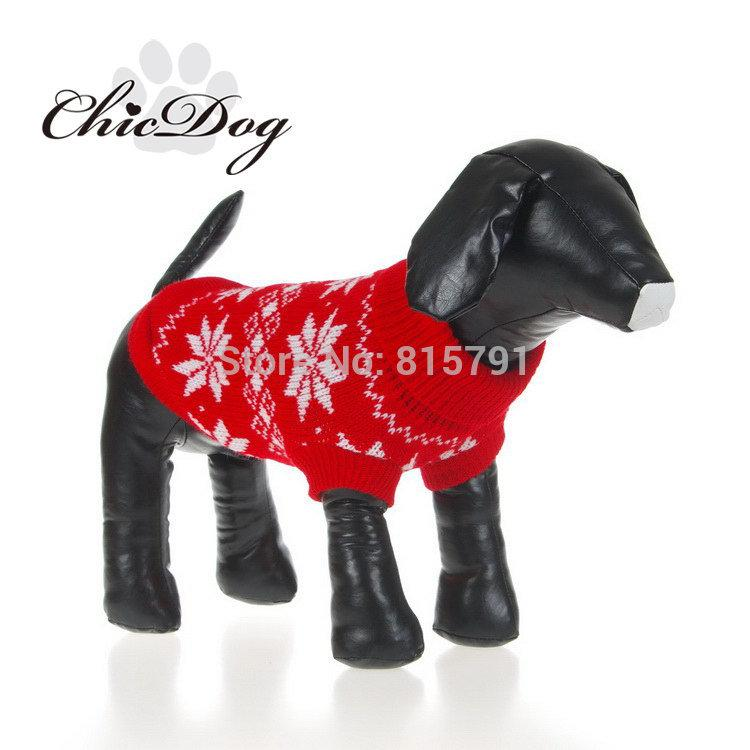 Wholesale Free Shipping Christmas Dog Clothes Pet Sweater Wholesale