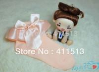 Wholesale Girl Socks Ribbons - Wholesale-2015 ribbon girl lace socks children's socks Baby ankle Socks Kids socks 6 colors