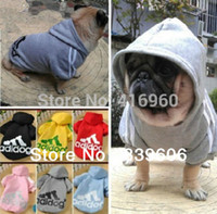 Wholesale Pink Hoodies For Dogs - Wholesale-High quality For Dog Cat Puppy Pet Clothing pet Clothes Warm Coat Apparel Hoodies Sweater T-shirt