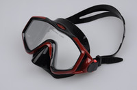 Wholesale Sturgeon Dragon Diving Mask - Wholesale-Sturgeon Dragon diving mask M208S Silecone mask black black with red black with blue FAMOUS BRAND Free Shipping