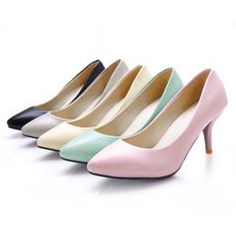 Gros-Livraison gratuite Femmes Pompes Mode Cuir synthétique Toes Pointu Stiletto Chaussures Taille US1-10.5 / EU Ladies hauts talons 31-43 ? partir de fabricateur