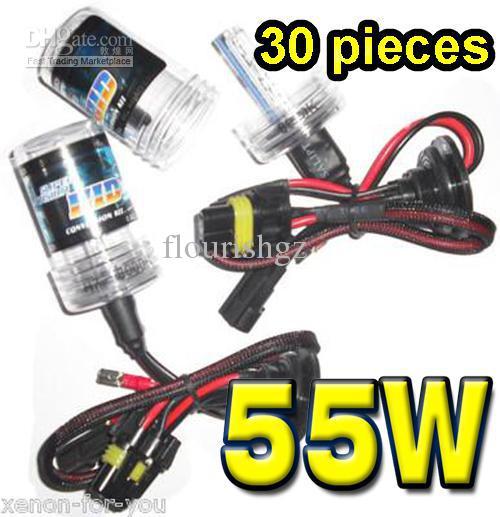 10 pares 12V 55W HID Reemplazo de xenón Reemplazo de la CA bombillas de repuesto HEX H1 H3 H4 H7 H8 H1180 881 D2S 9004 9005 9006 9007 Toda la calidad del color