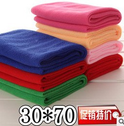 Wholesale Microfiber Super Absorbent Towel - Wholesale-High quality microfiber towel, 30 * 70cm super absorbent towel dry hair, car travel beauty salons Fitness Camping Movement