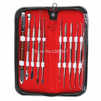 Wholesale Dentist Set - Wholesale-1Set(10Pcs)High Quality Dental Lab Equipment Wax Carving Tools Set Surgical Dentist Sculpture Knife Instruments Tool Kit
