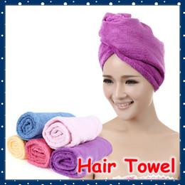 Canada Vente en gros- [FORREST SHOP] Chapeau de serviette de séchage de cheveux magique de haute qualité Microfibre Lady (5 pièces / lot) FRH-91 Offre