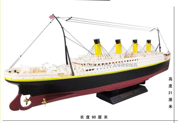 Wholesale High Simulation Rc Boat Ship 3channel Retro Titanic Model  Realistic Details Large Size Display Collection Nice Gift Color Box Remote  Control