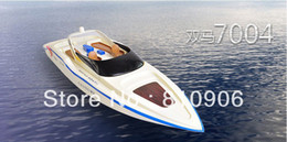 Wholesale electric boat remote control - Wholesale-3 Channel CH Remote control racing boat Century 7004 with Double motor Super nice Speedboat Flying Fish RC Boat+freeshipping