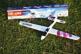 Epo Rc Models Canada - Wholesale-Free Ship EPO Glider Hand Launch Foam Paper Not RC Planes Airplane Model Kids Adult Toys Outdoor Sport Aeromodel Best Gift kids