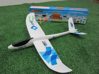 Wholesale Toy Airplanes For Kids - Wholesale-EPO Hand Launch Glider Foam Paper Not RC Planes Airplane Model Kids Adult Toys Outdoor Unpowered Aeromodel Best Gift for Boys