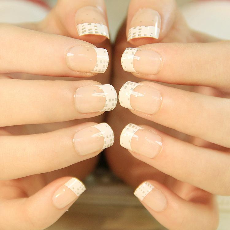 Wholesale French Fake Nails Short Nail Tips Popular Corta Tips False ...